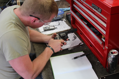 In the basic course learn the use of tools, safety and operation in firearm repair