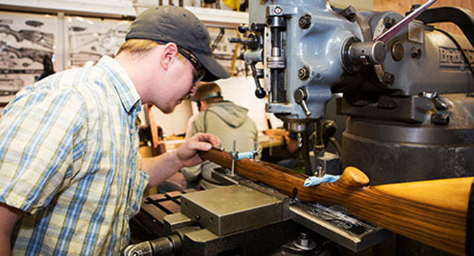 At the Colorado School of Trades you will learn the art of firearm craftsmanship